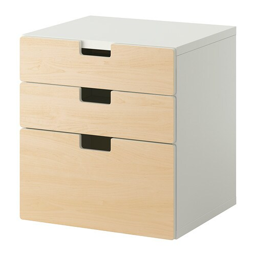 stuva 3 drawer chest birch ikea. Black Bedroom Furniture Sets. Home Design Ideas