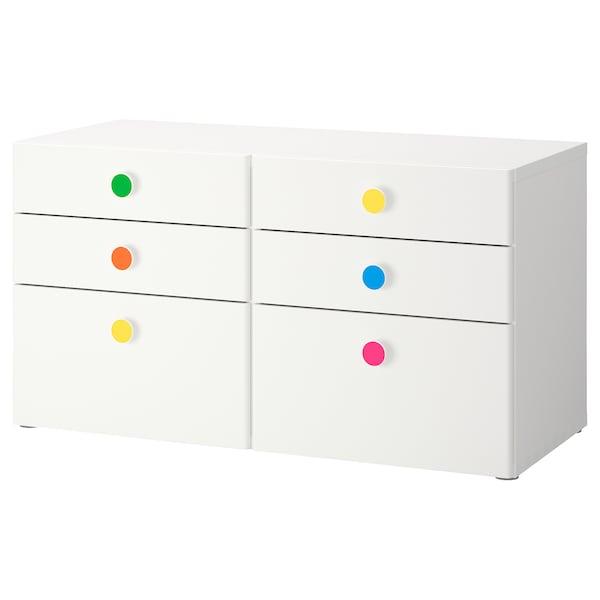 "STUVA / FÖLJA 6-drawer dresser white 47 1/4 "" 19 5/8 "" 25 1/4 """