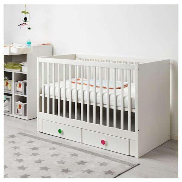 Stuva F 214 Lja Crib With Drawers White Ikea