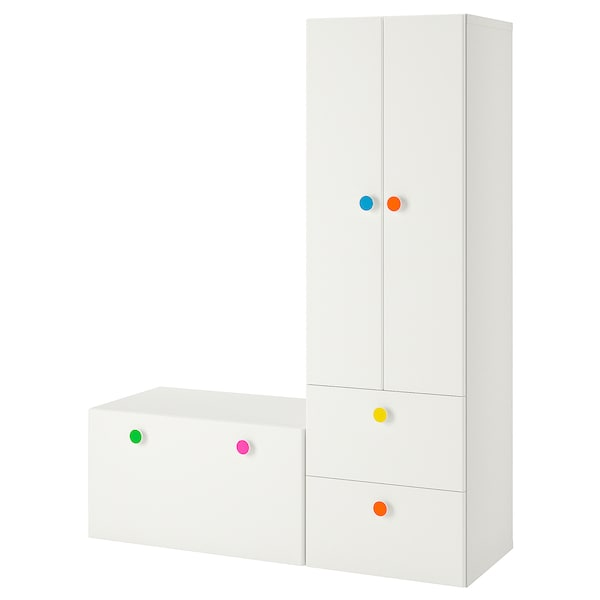 "STUVA / FÖLJA storage combination with bench white 59 "" 19 5/8 "" 75 5/8 """