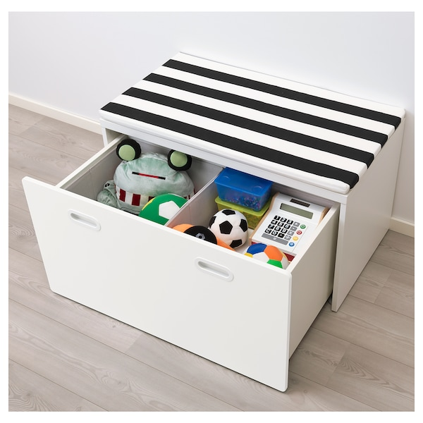 "STUVA / FRITIDS bench with toy storage white/white 35 3/8 "" 19 5/8 "" 19 5/8 """