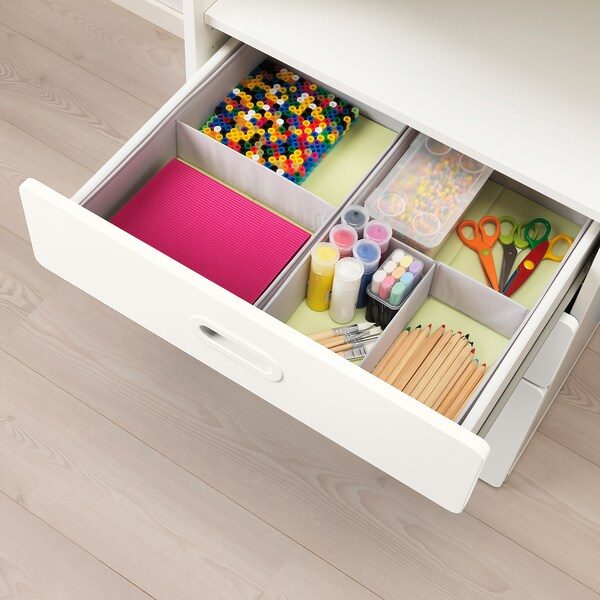 """STUVA / FRITIDS bookcase with drawers white/white 23 5/8 """" 19 5/8 """" 50 3/8 """""""