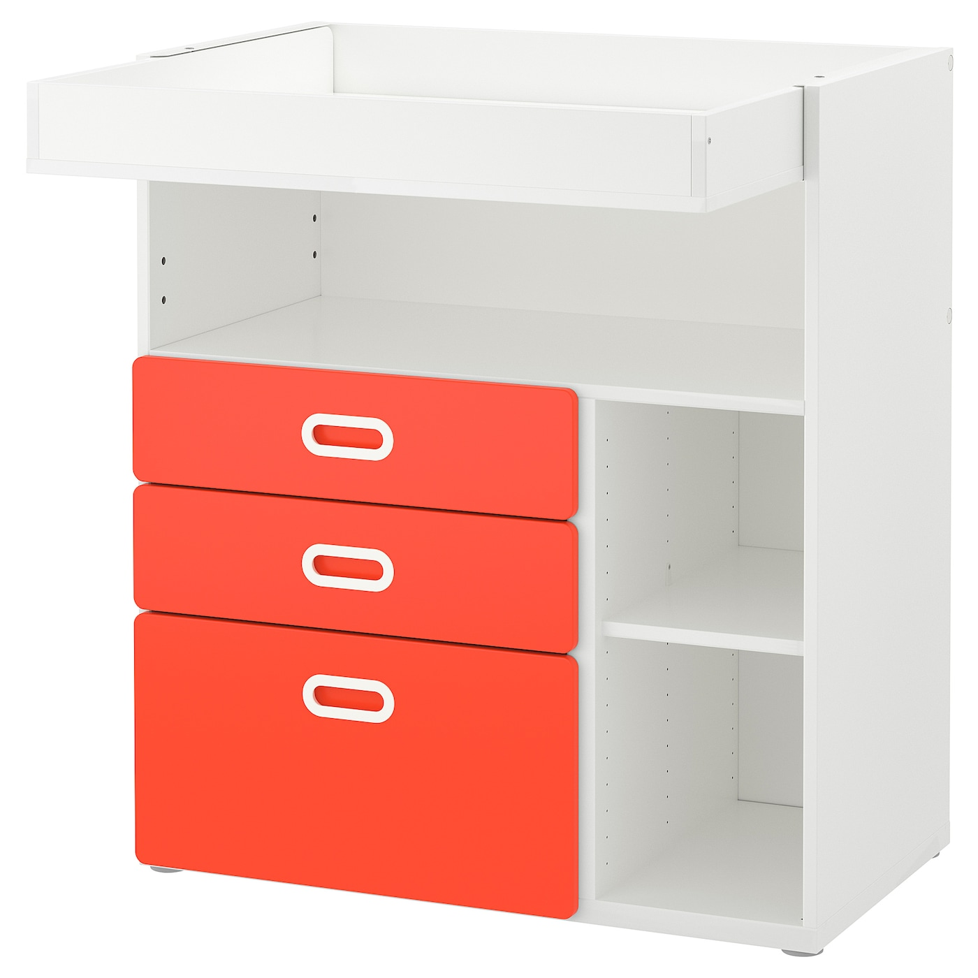 Astounding Stuva Fritids Changing Table With Drawers White Red Download Free Architecture Designs Intelgarnamadebymaigaardcom