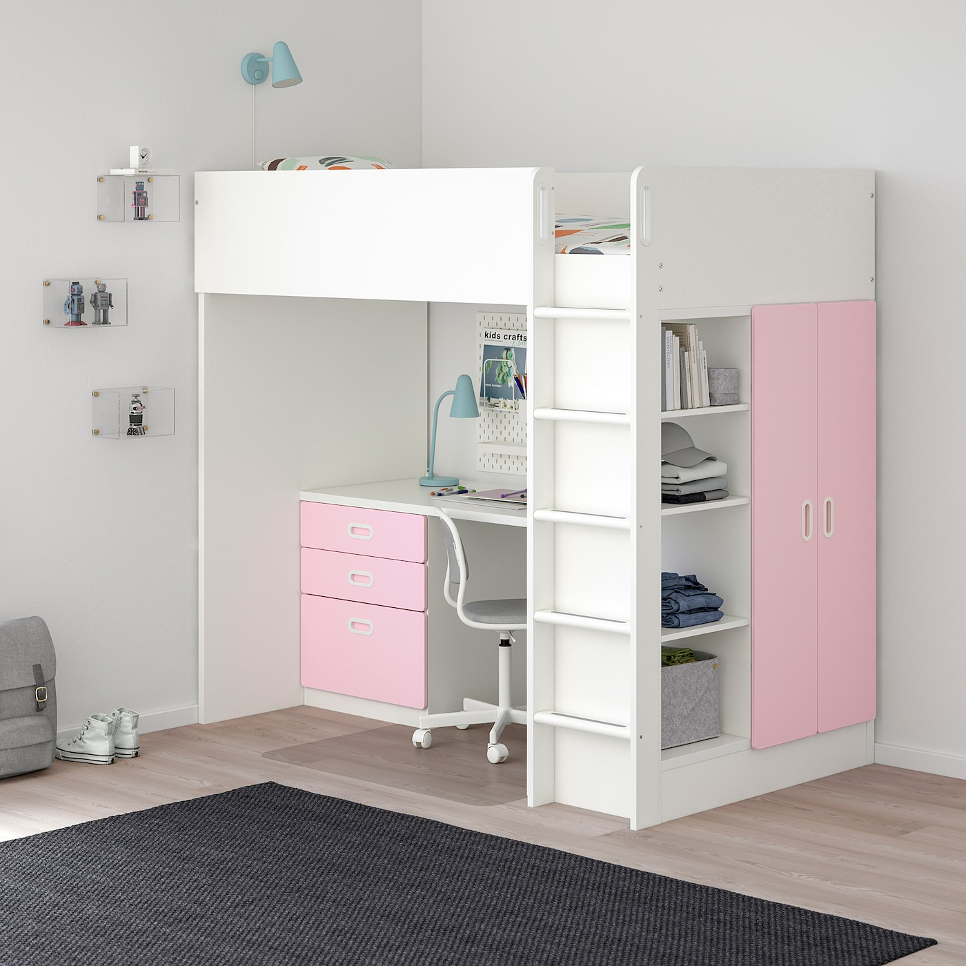 Stuva Fritids Loft Bed With 3 Drawers
