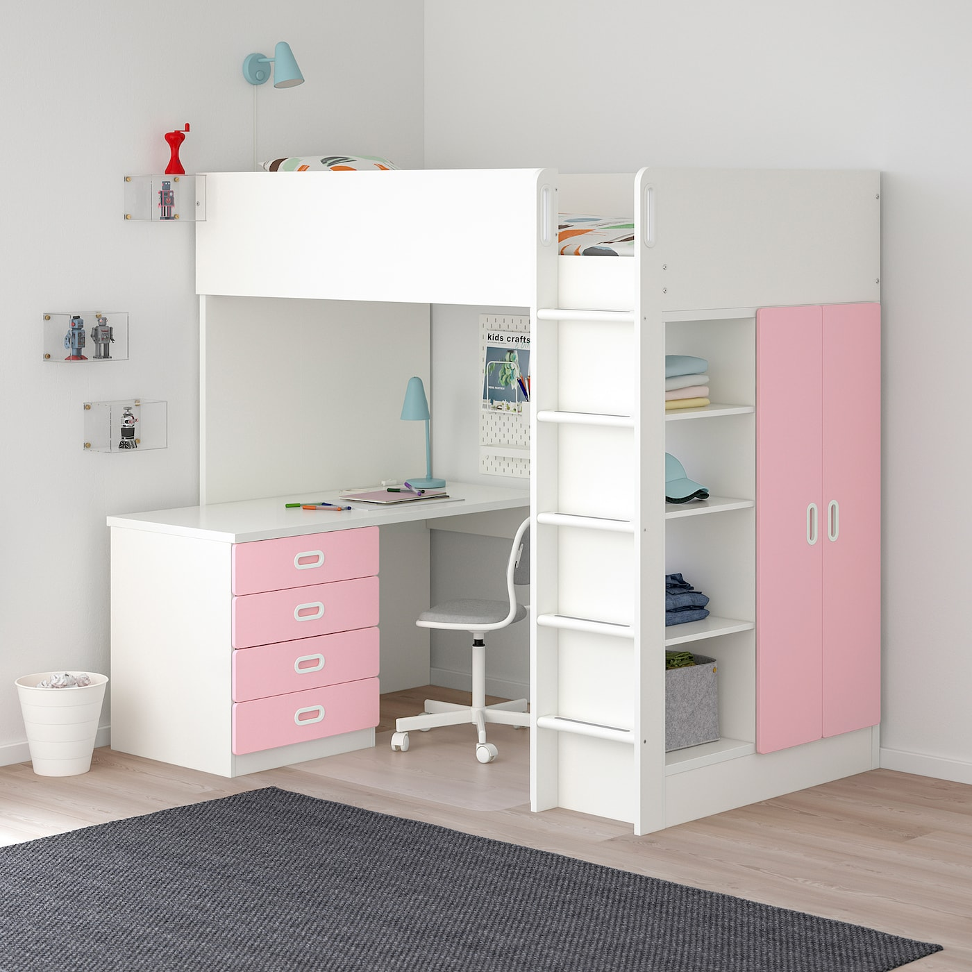 Stuva Fritids Loft Bed With 4 Drawers