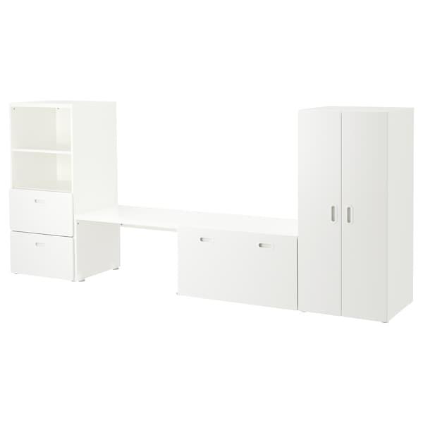 """STUVA / FRITIDS storage combination white/white 118 1/8 """" 19 5/8 """" 50 3/8 """""""