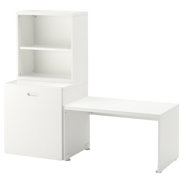 STUVA / FRITIDS Table with toy storage, white/white, 59x19 5/8x50 3/8 ""