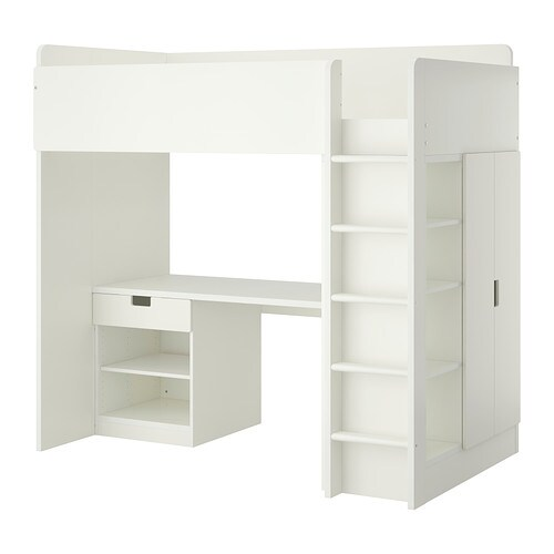 Schreibtisch Ikea Galant Birke ~ STUVA Loft bed with 1 drawer 2 doors IKEA You can assemble the desk