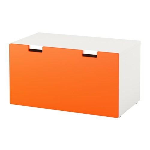 Stuva Storage Bench White Orange Ikea