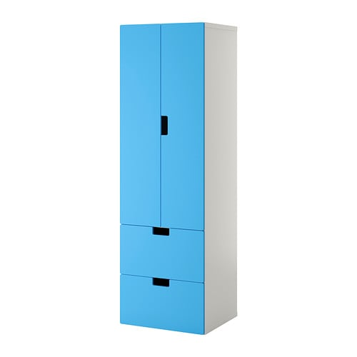 stuva storage combination w doors drawers white blue ikea. Black Bedroom Furniture Sets. Home Design Ideas