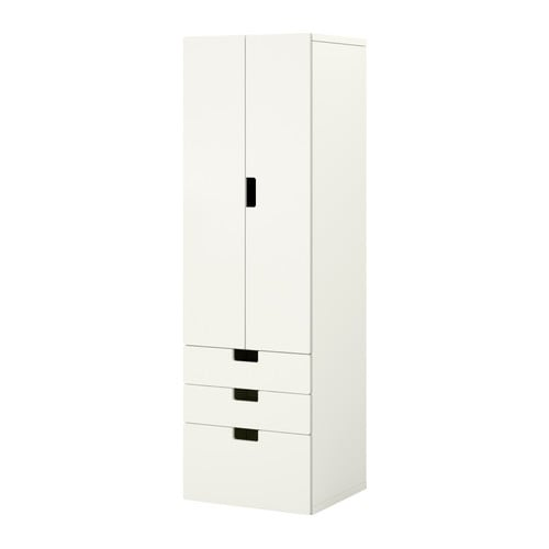 STUVA Storage combination w doors/drawers IKEA Doors with integrated damper for silent and soft closing.  Choose between open and closed storage.