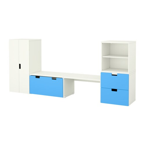 Stuva Storage Combination With Bench White Blue Ikea