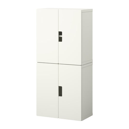 STUVA Storage combination with doors IKEA Doors with integrated damper for silent and soft closing.