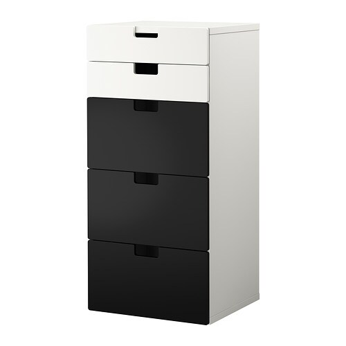 Stuva storage combination with drawers white black ikea - Rangement plastique tiroir ikea ...