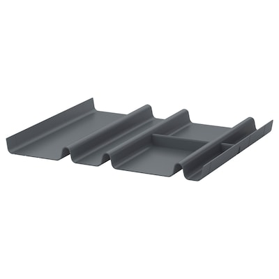 "SUMMERA drawer insert with 6 compartments anthracite 17 3/8 "" 14 5/8 "" 1 1/8 """
