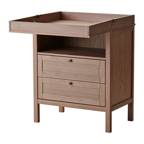 SUNDVIK Changing table/chest, gray-brown gray-brown -
