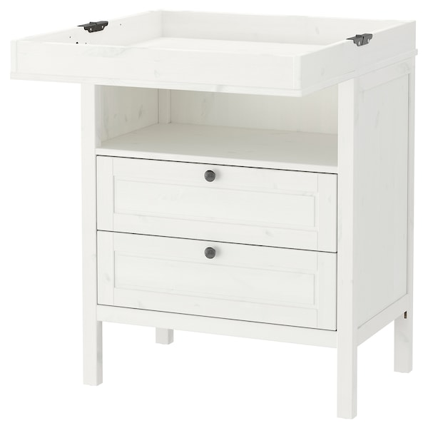 Sundvik Changing Table Chest White Ikea