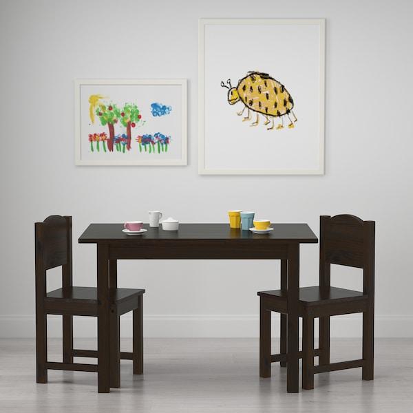 """SUNDVIK children's table black-brown 29 7/8 """" 19 5/8 """" 19 5/8 """""""