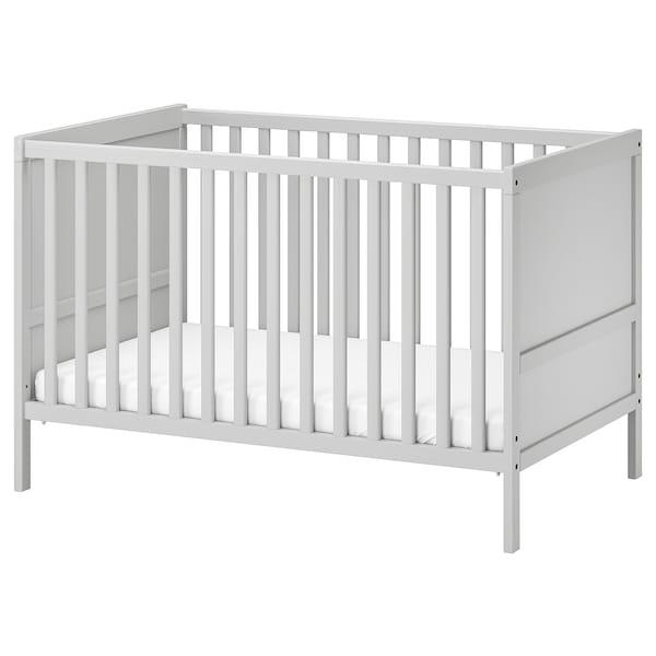"""SUNDVIK Crib, gray, 27 1/2x52 """""""