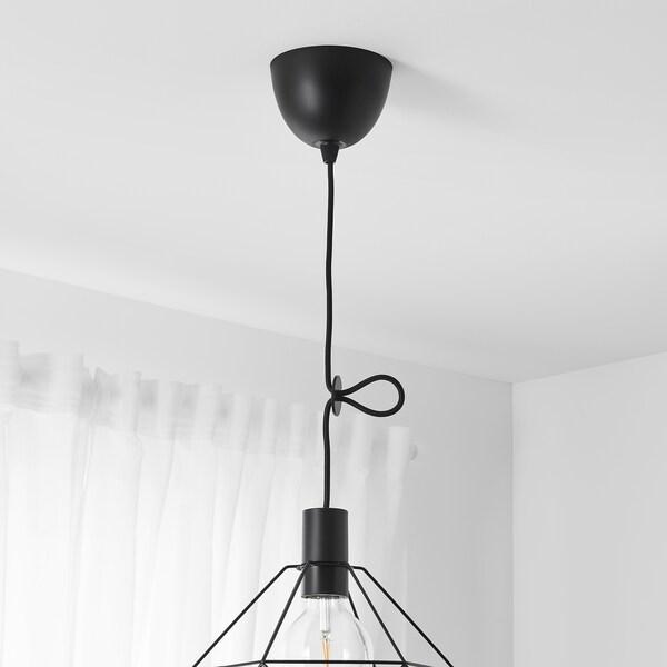 "SUNNEBY Cord set, black textile, 5 ' 11 """