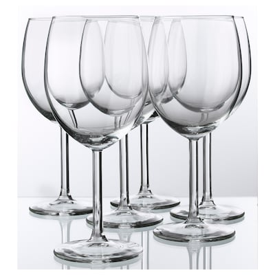 "SVALKA wine glass clear glass 7 "" 10 oz 6 pack"