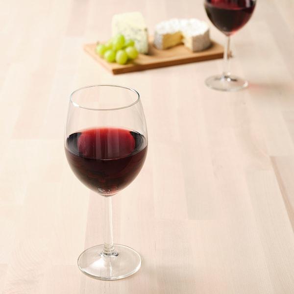 SVALKA Wine glass, clear glass, 15 oz