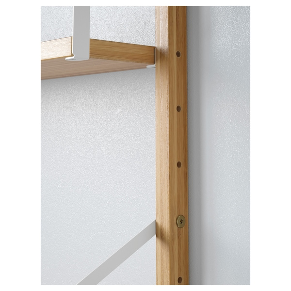 SVALNÄS Wall-mounted storage combination, bamboo, 33 7/8x13 3/4x69 1/4 ""