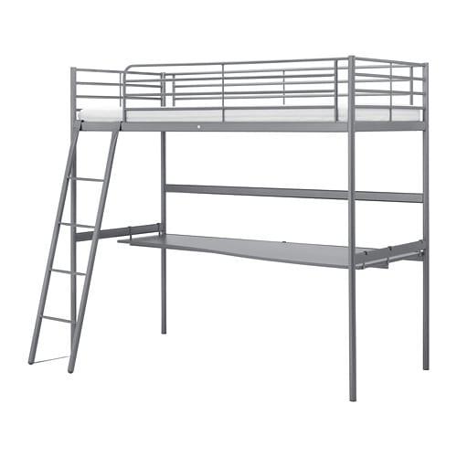 Sv 196 Rta Loft Bed Frame With Desk Top Ikea