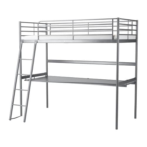 sv rta loft bed frame with desk top ikea. Black Bedroom Furniture Sets. Home Design Ideas