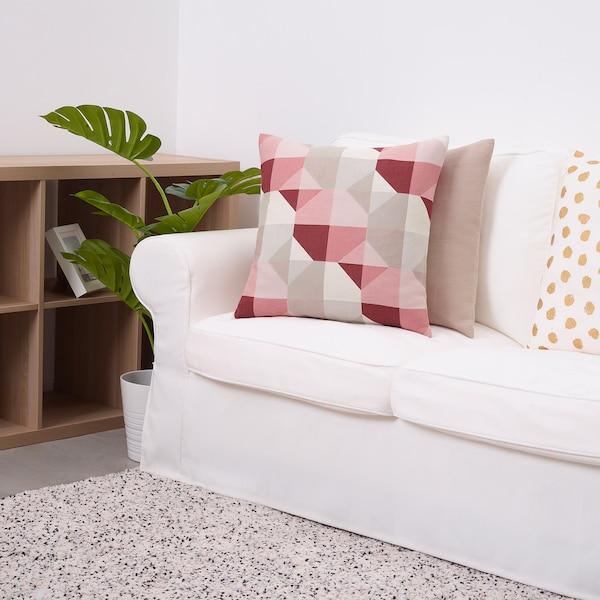 "SVARTHÖ Cushion cover, pink/beige, 20x20 """