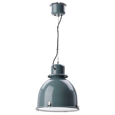 "SVARTNORA Pendant lamp, gray-turquoise, 15 """