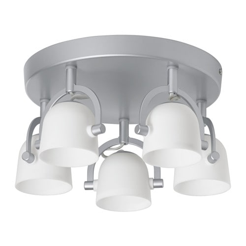 svirvel ceiling light with 5 spotlights ikea. Black Bedroom Furniture Sets. Home Design Ideas