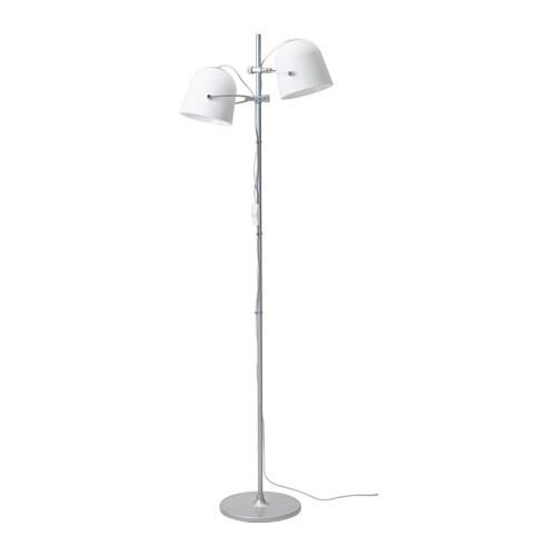 2 Bulb Floor Lamp: SVIRVEL Floor lamp with 2 shades IKEA,Lighting