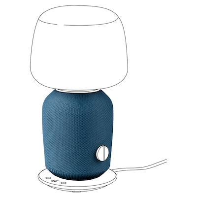SYMFONISK Cover for table lamp speaker, blue