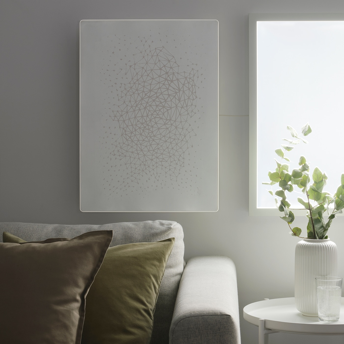 SYMFONISK Picture frame with Wi-Fi speaker, white