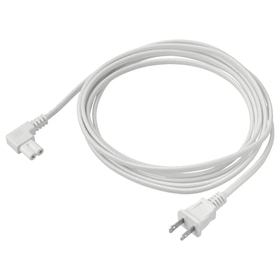 SYMFONISK Power supply cord, textile/white, 11 ' 6 ""