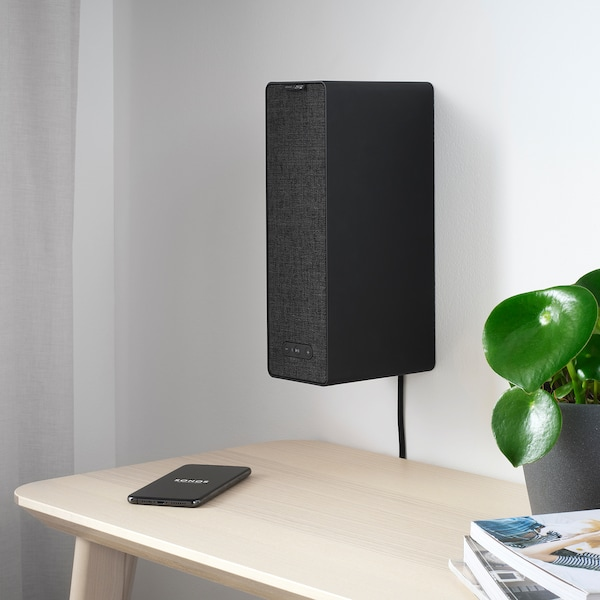 "SYMFONISK WiFi bookshelf speaker black 4 "" 6 "" 12 "" 59 """