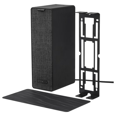 SYMFONISK / SYMFONISK WiFi speaker with bracket, black, 12x4x6 ""