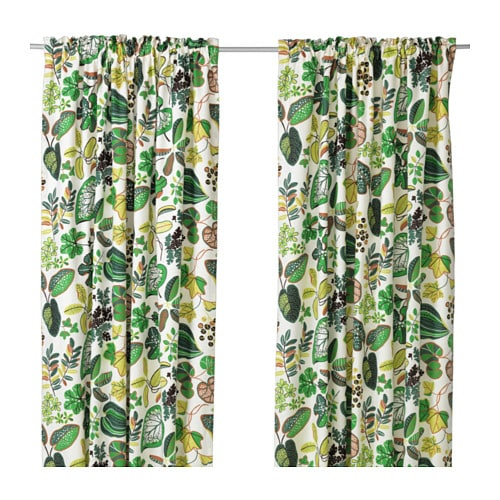 SYSSAN Curtains, 1 pair IKEA Linen gives the fabric a natural, irregular texture and makes it feel firm to the touch.