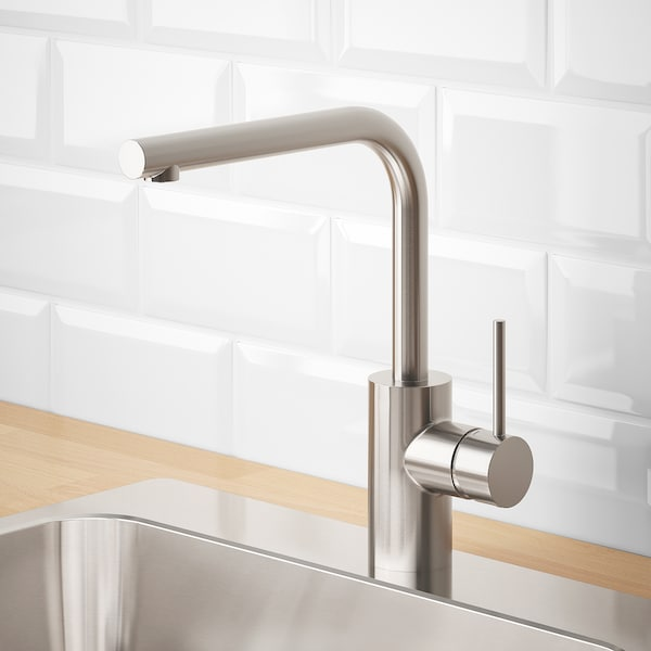 TÄMNAREN Kitchen faucet w sensor, stainless steel color