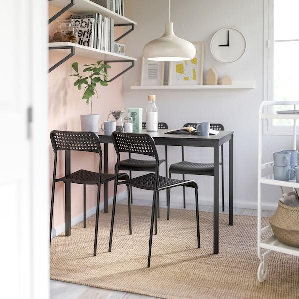 """TÄRENDÖ / ADDE Table and 4 chairs, black, 43 1/4 """""""