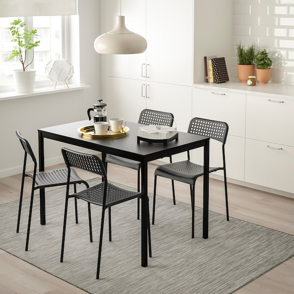 Incredible Table And 4 Chairs Tarendo Adde Black Machost Co Dining Chair Design Ideas Machostcouk