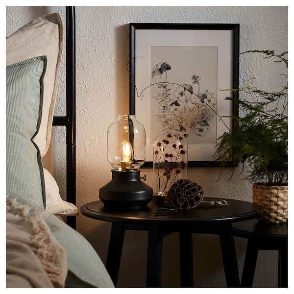 """TÄRNABY table lamp with LED bulb anthracite 6 W 4 """" 10 """" 6 """" 5 ' 11 """""""