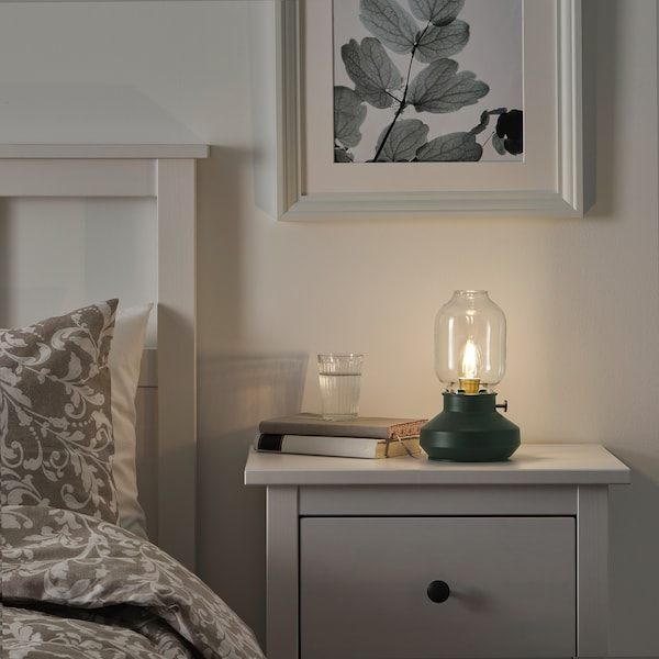 Table Lamp With Led Bulb Dark Green