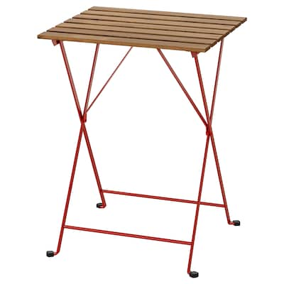 """TÄRNÖ Table, outdoor, red/light brown stained, 21 5/8x21 1/4 """""""