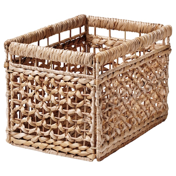 TÄTING Basket, banana leaves/natural, 13 ¾x9 ¾x9 ¾ ""