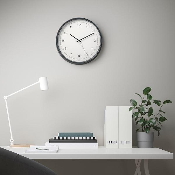 "TAGGAD Wall clock, white/gray, 15 """