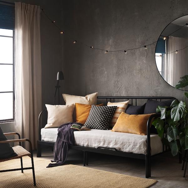 "TAGGBRÄKEN Cushion cover, gray white/dot pattern, 20x20 """