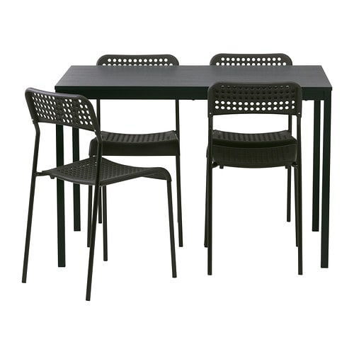 T rend adde table and 4 chairs ikea - Table ronde en bois ikea ...
