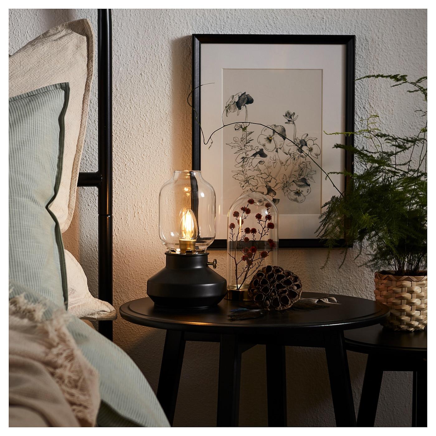 TÄRNABY - Table lamp, anthracite black